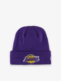 New Era Huer NBA LA Lakers Team Cuff Knit lilla