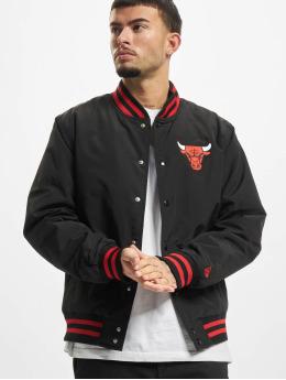 New Era Kurtka pilotka NBA Chicago Bulls Team Wordmark Bomber czarny