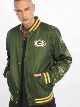 New Era Kurtka pilotka NFL Packers Champion Greenbay Packers zielony