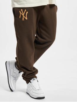 New Era Pantalón deportivo MLB NY Yankees Seasonal Logo Relaxed marrón