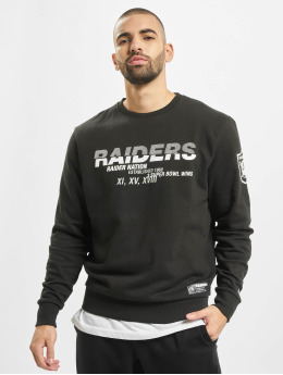 New Era Pullover NFL Oakland Raiders Wordmark Slogan Crew black