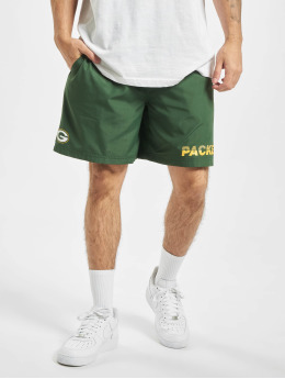 New Era Shorts NFL Green Bay Packers Team Logo And Wordmark verde