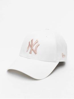 New Era Snapback MLB NY Yankees Satin 9Forty biela