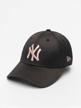 New Era Snapback Cap MLB NY Yankees Satin 9Forty black