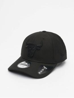 New Era Snapback Cap NBA Chicago Bulls Mono Team Colour 9Forty nero