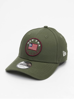 New Era snapback cap Flagged 9Forty olijfgroen