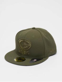 11533d5265fa60 New Era Snapback Cap NFL Green Bay Packers Poly Tone 59fifty olive