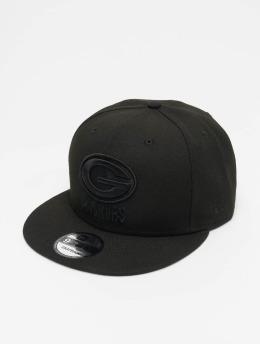 New Era NFL Green Bay Packers 9Fifty Snapback Cap Black On Black