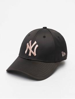 New Era Snapback Cap MLB NY Yankees Satin 9Forty schwarz