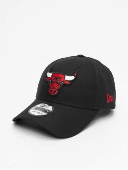 New Era snapback cap NBA Chicago Bulls Chambray League zwart