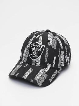 New Era snapback cap NFL Las Vegas Raiders All Over Script Print 9Forty zwart