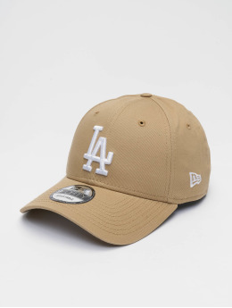 New Era Snapback Caps MLB Los Angeles Dodgers League Essential 9forty beige