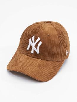 New Era Snapback Caps MLB New York Yankees Womens Fashion Cord bezowy