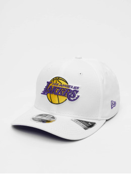 New Era Snapback Caps NBA LA Lakers Stretch Snap 9fifty bialy
