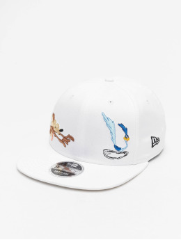 New Era Snapback Caps WB Roadrunner Looney Tunes Chase 9Fifty bialy