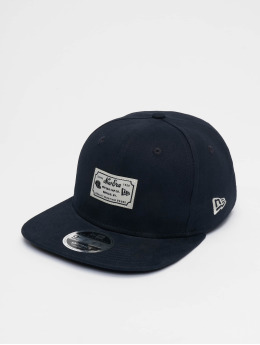 New Era Snapback Caps Script Patch 9fifty blå