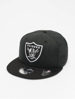New Era Snapback Caps NFL Oakland Raiders Heather Crown czarny