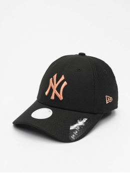 New Era Snapback Caps MLB New York Yankees Womens Diamond Era 9Forty czarny