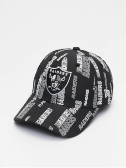 New Era Snapback Caps NFL Las Vegas Raiders All Over Script Print 9Forty czarny