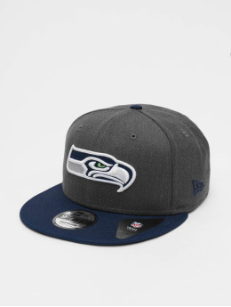 New Era Snapback Caps NFL Heather Seattle Seahawks 9Fifty grå