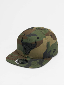 New Era Snapback Caps NBA Chicago Bulls Metal Badge 9Fifty kamuflasje