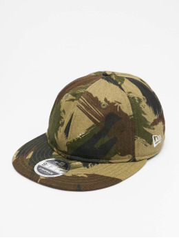 New Era Snapback Caps Camo Ripstop Retro Crown 9Fifty moro