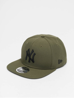 New Era Snapback Caps MLB NY Yankees 9Fifty Original Fit olivový