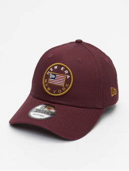 New Era Snapback Caps Flagged 9Forty purpuranpunainen
