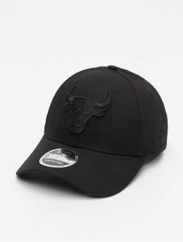 New Era Snapback Caps NBA Chicago Bulls Black On Black 9Forty sort
