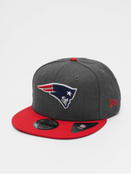 New Era Snapback Caps NFL Heather New England Patriots 9Fifty szary