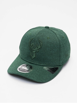 New Era Snapback Caps NBA Milwaukee Bucks Tonal 9Fifty Stretch zielony
