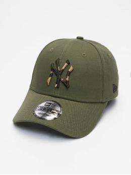 New Era Snapback Mlb Properties New York Yankees Camo Infill 9forty olivová