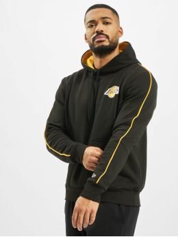 New Era Sweat capuche NBA LA Lakers Stripe Piping noir