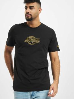 New Era T-paidat NBA Chain Stitch Los Angeles Lakers musta