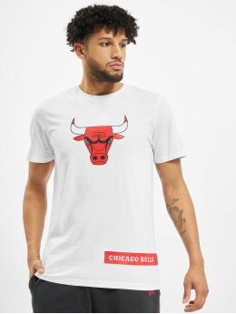 New Era T-Shirt NBA Chicago Bulls Block Wordmark blanc