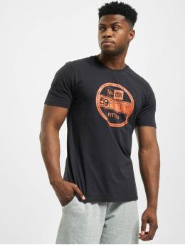 New Era T-Shirt Essential Visor Stickr  blau