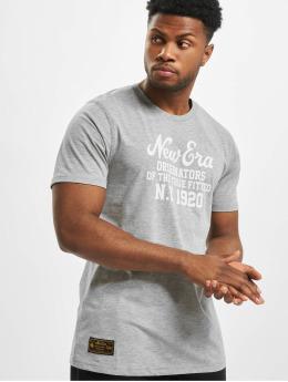 New Era T-Shirt Established Heritage grau