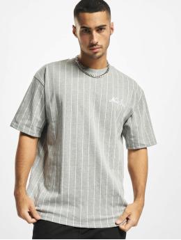 New Era T-Shirt Oversized Pinstripe gris