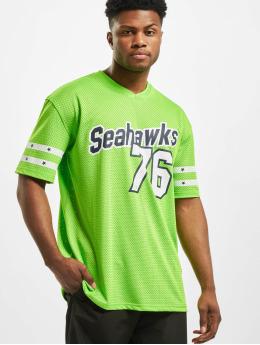 New Era T-Shirt NFL Seattle Seahawks Stripe Sleeve Oversized grün