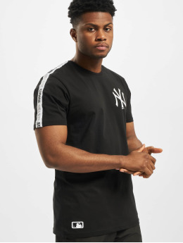 New Era T-Shirt MLB NY Yankees Sleeve Taping noir