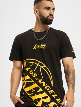 New Era T-Shirt NBA Los Angeles Lakers Enlarged Logo noir