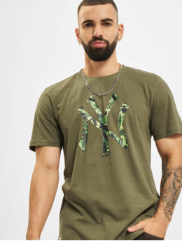 New Era t-shirt MLB New York Yankees Camo Infill olijfgroen