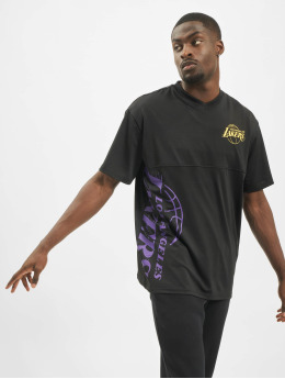 New Era T-Shirt NBA LA Lakers Vertical Wordmark schwarz