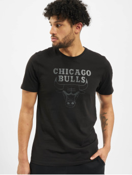 New Era T-Shirt NBA Chicgo Bulls Team Logo schwarz