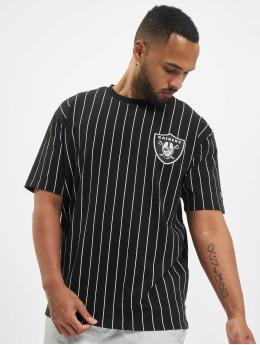 New Era T-Shirt NFL Pinstripe Left Logo Tee Las Vegas Raiders  schwarz