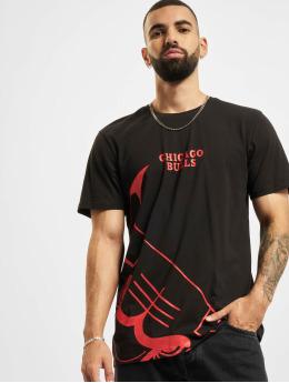 New Era T-shirt NBA Chicago Bulls Enlarged Logo svart