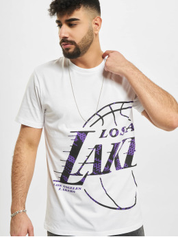 New Era T-Shirt NBA Los Angeles Lakers Oil Slick Infill Logo weiß