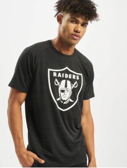 New Era t-shirt NFL Oakland Raiders Engineered Raglan zwart