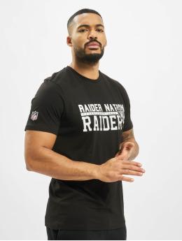 New Era t-shirt NFL Oakland Raiders Stacked Wordmar zwart