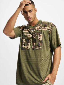 New Era T-shirts NFL Las Vegas Raiders Camo Infill Oversized Mesh oliven